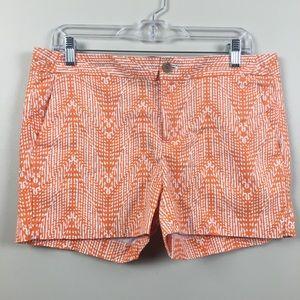 Banana Republic | Orange Aztec Hampton Fit Shorts